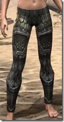 Nord Orichalc Greaves - Female Front
