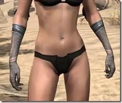 Silken Ring Iron Gauntlets - Female Front