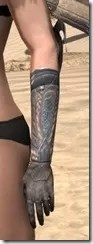 Silken Ring Iron Gauntlets - Female Side