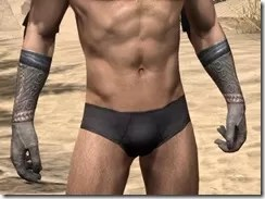 Silken Ring Iron Gauntlets - Male Front