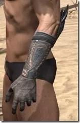 Silken Ring Iron Gauntlets - Male Side