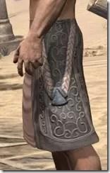 Silken Ring Iron Greaves - Male Side