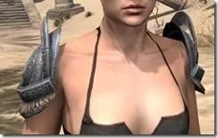 Silken Ring Iron Pauldron - Female Front