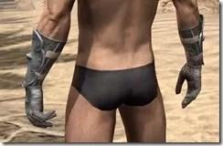 Telvanni Iron Gauntlets - Male Rear