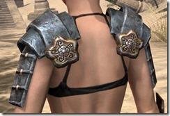 Akaviri Iron Pauldron - Female Rear