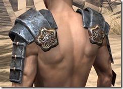 Akaviri Iron Pauldron - Male Rear