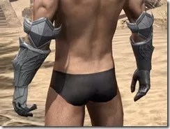Aldmeri Dominion Iron Gauntlets - Male Rear