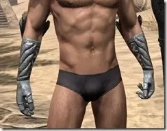 Ancient Elf Iron Gauntlets - Male Front