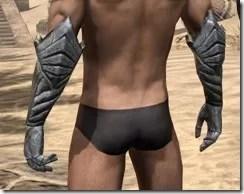 Ancient Elf Iron Gauntlets - Male Rear