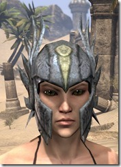 Ancient Elf Iron Helm - Female Front