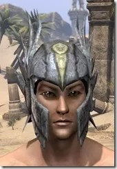Ancient Elf Iron Helm - Male Front