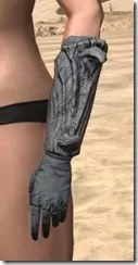 Ashlander Iron Gauntlets - Female Side