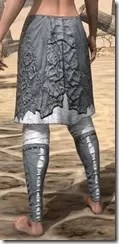 Ashlander Iron Greaves - Female Rear