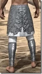 Ashlander Iron Greaves - Male Rear