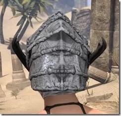 Ashlander Iron Helm - Female Rear