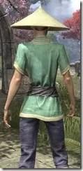 Budi-Shirt and Galligaskins - Dyed Close Rear