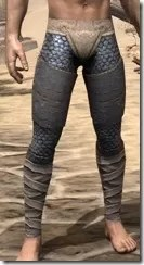 Daggerfall Covenant Iron Greaves - Male Front