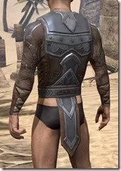 Dark Brotherhood Iron Cuirass - Male Rear