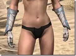 Dro-m'Athra Iron Gauntlets - Female Front