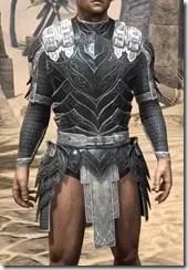 Ebony Iron Cuirass - Male Front