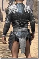 Ebony Iron Cuirass - Male Rear