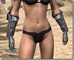 Ebony Iron Gauntlets - Female Front
