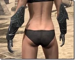 Ebony Iron Gauntlets - Female Rear
