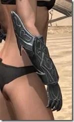 Ebony Iron Gauntlets - Female Right
