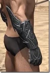 Ebony Iron Gauntlets - Male Right