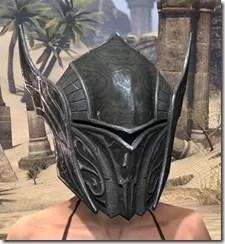 Ebony Iron Helm - Female Front