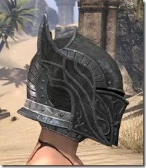Ebony Iron Helm - Female Right
