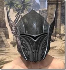 Ebony Iron Helm - Male Front