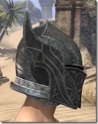 Ebony Iron Helm - Male Right