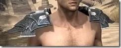 Ebony Iron Pauldron - Male Front