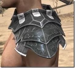 Ebony Iron Pauldron - Male Side