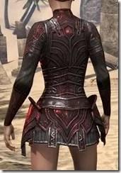 Ebony (Old) Heavy Cuirass - Female Rear