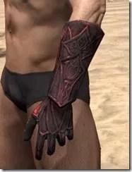 Ebony (Old) Heavy Gauntlets - Male Side