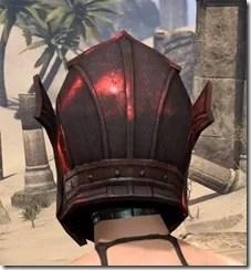 Ebony (Old) Heavy Helm - Female Rear