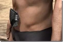 Ebony Rawhide Belt - Male Side