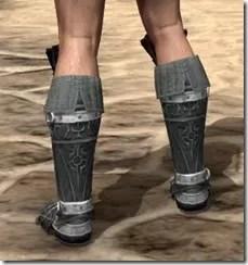 Ebony Rawhide Boots - Male Rear