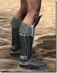Ebony Rawhide Boots - Male Right