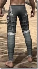 Ebony Rawhide Guards - Male Rear