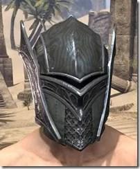 Ebony Rawhide Helmet - Male Front
