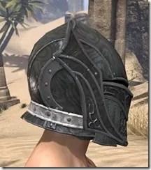 Ebony Rawhide Helmet - Male Right