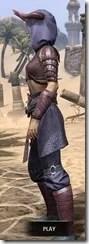 Minotaur Homespun - Dyed Robe Side