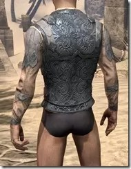 Order of the Hour Iron Cuirass - Male Rear