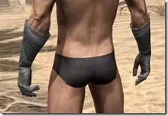 Order of the Hour Iron Gauntlets - Male Rear
