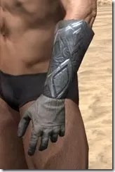 Order of the Hour Iron Gauntlets - Male Side