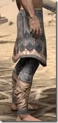 Order of the Hour Iron Greaves - Male Right