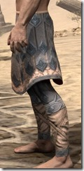 Order of the Hour Iron Greaves - Male Side